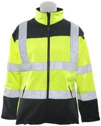 W651 Class 2 Soft Shell Jacket Women's Hi Viz Lime Medium