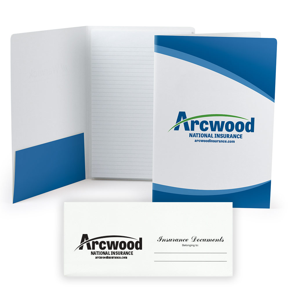 Case study for insurance company using branded office supplies