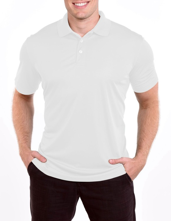 Men's Solid Color Performance Golf Delux Polo Shirt