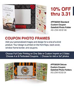 Coupon Gatefold Photo Folder Sale