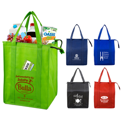12 W x 16 H x 10 G - Large Insulated Zipper 'Super Cooler' Tote Bag