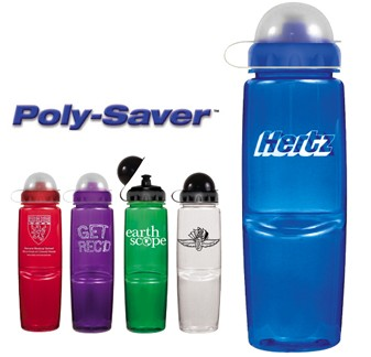 24 oz. Poly-Saver Twist Bottle with Push \'Pull Cap and Dome Lid