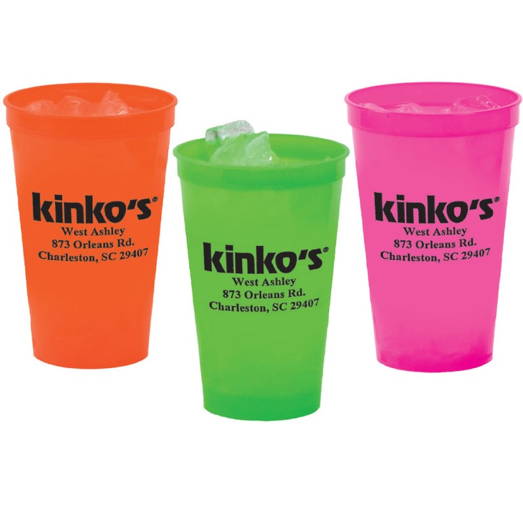 22 oz. Smooth Stadium Cup, Neon Colors