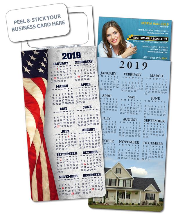M.B.C. Stock Calendar Card -UV-Coated (1S) - 10 pt.