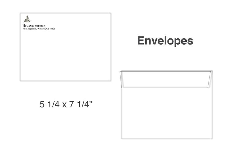 A-7 (5 1/4 X 7 1/4) Envelopes 60, White Opaque Vellum 1/0 black