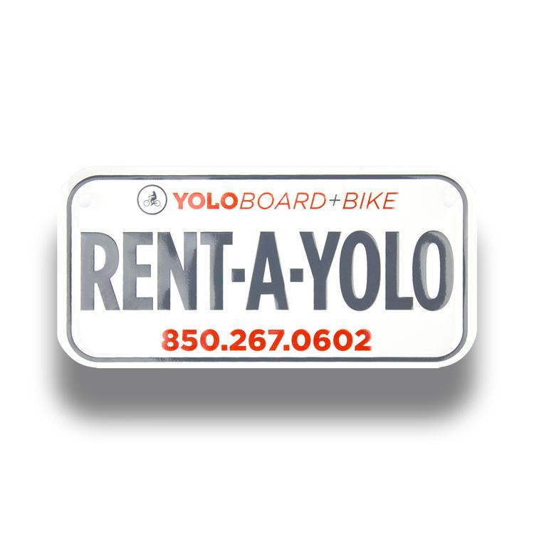 Bike plates (Embossed)