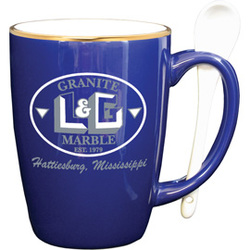 12 oz. Cobalt Spooner mug