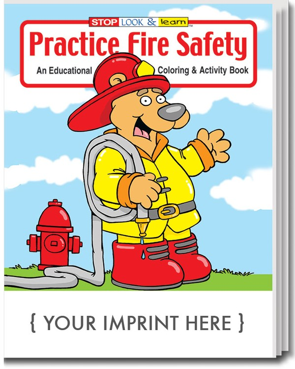COLORING BOOK - Practice Fire Safety Coloring & Activity Book - 0190 ...