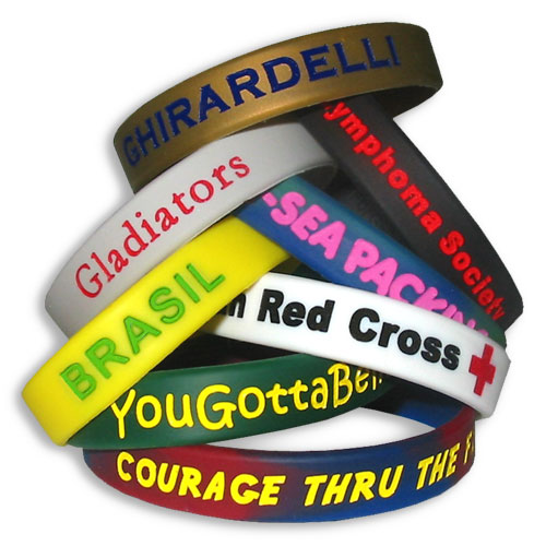 Silicone Wrist Bands-Molded & colorfilled