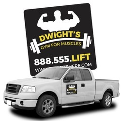 Magnetic Car/Truck/Auto/Vehicle Signs - 12x12 Round Corners