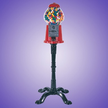15 BLACK DIE CAST IRON GUM BALL MACHINE w/Black Stand