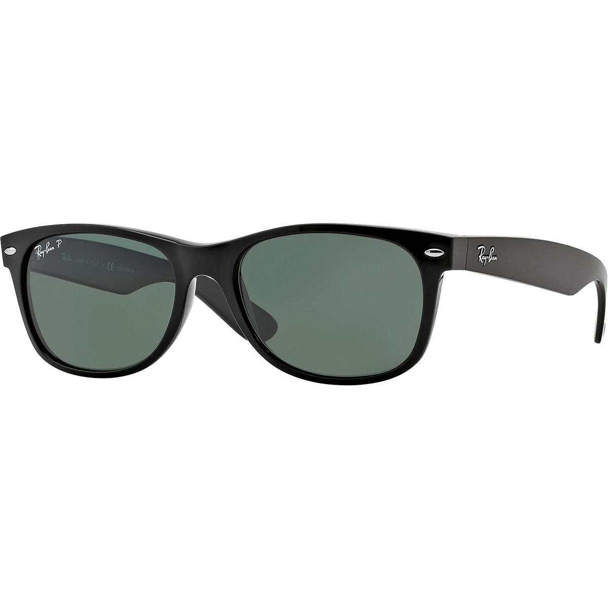 982667c4e7 Ray-Ban Polarized New Wayfarer Sunglasses - Black Green  0RB21329015855
