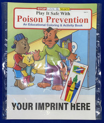 COLORING SET - Play It Safe With Poison Prevention Coloring Book Fun Pack - Coloring Book Fun Pack