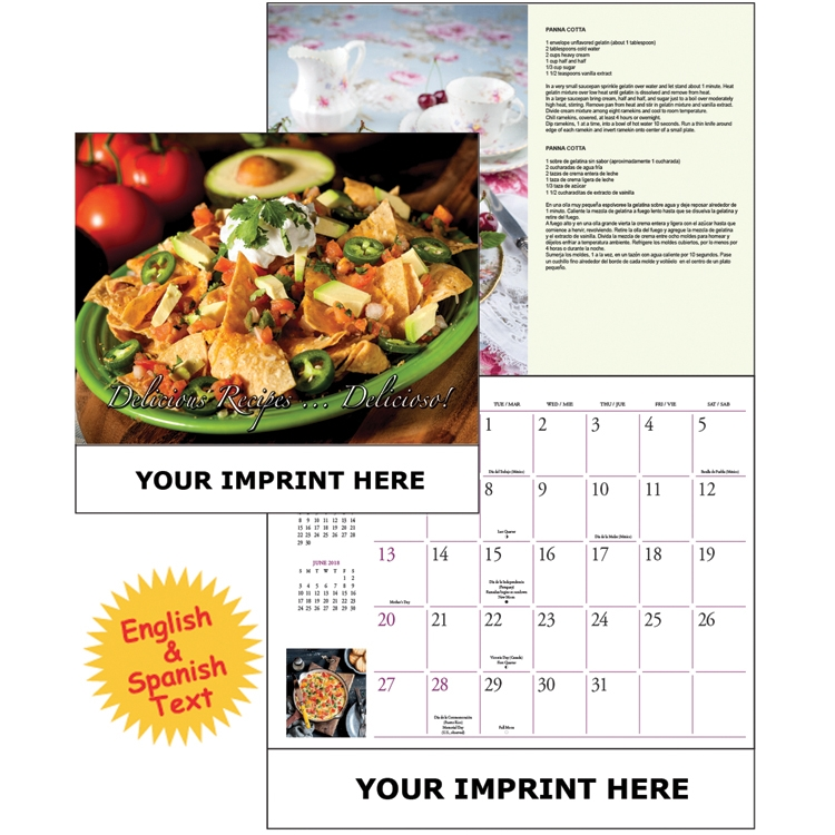 The Global Econoline Calendar/ Delicious Recipes - Delicioso