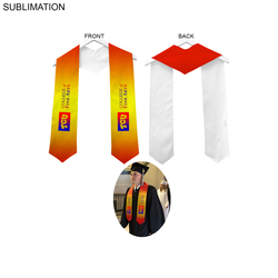 Sublimated Polyester Graduation Honor Stole