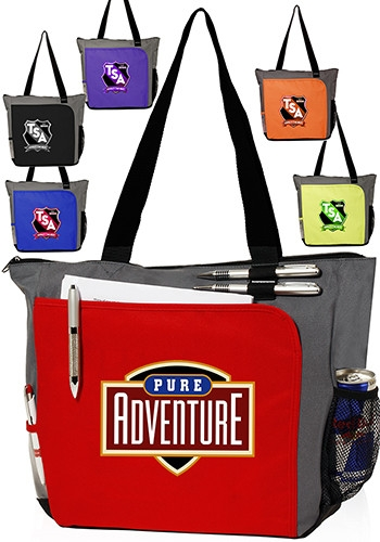Front Pocket Canvas Tote Bag - 17 W x 14 H
