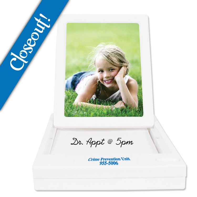 Pop Up Picture Frame with Notepad - White