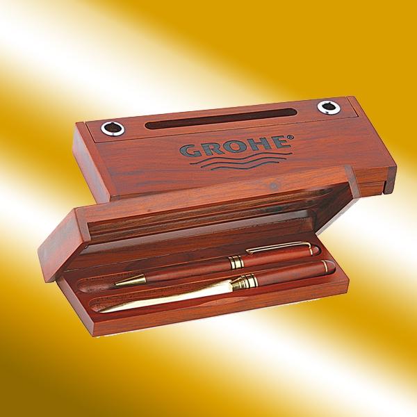 Rosewood Dual-Pen Box