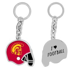 Custom Football Helmet Key Chain - Production Option