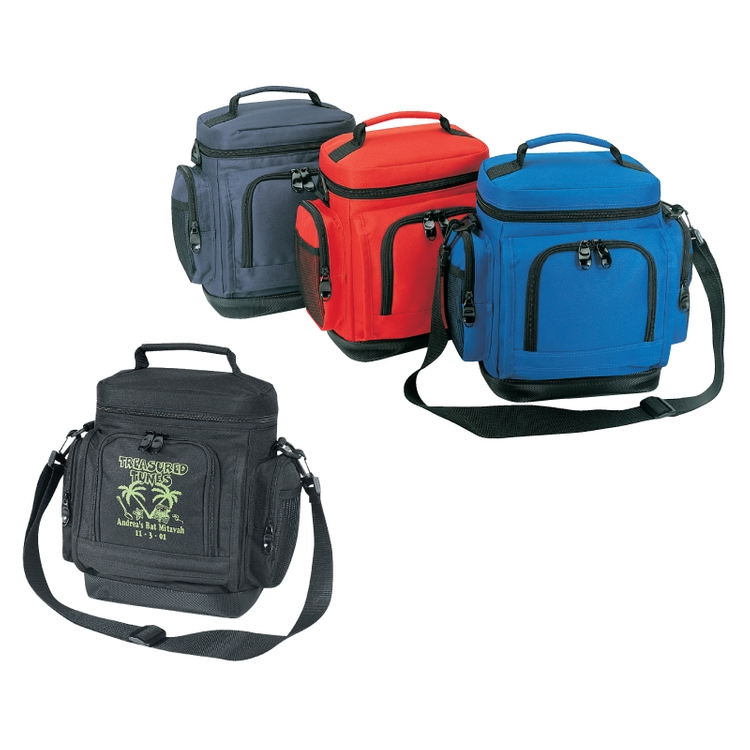 600D Polyester Leakproof Cooler w/Leatherette Bottom
