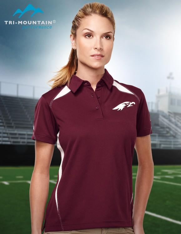 a82c7799 Women's 5.3 oz. 100% polyester birdseye mesh polo featuring Tri-Mountain  UltraCool® technology.