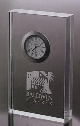 Branchbrook Park Clock. Small. Optic Crystal
