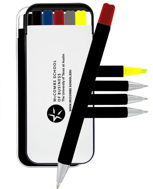 Vendome B Pen, Pencil & Highlighter Stationery Set