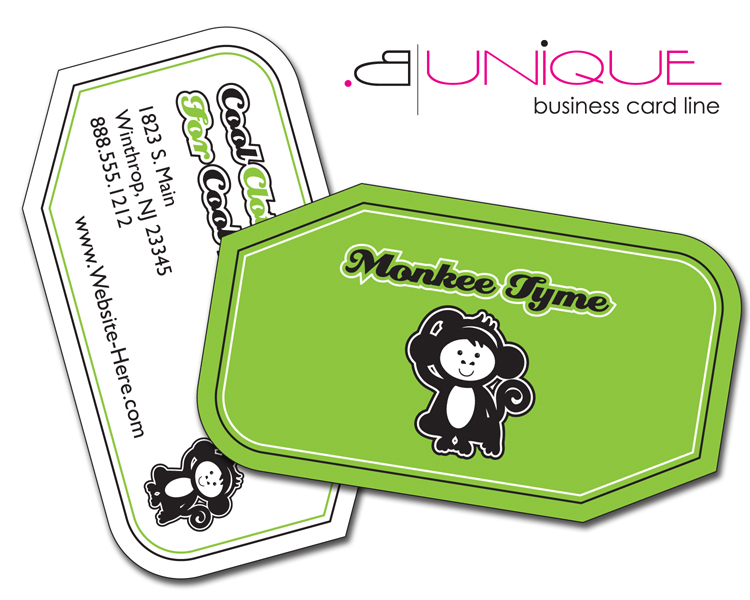 Extra-Thick UV-Coated (1S) Paper Business Card (3.5x2) - B. Unique Shape