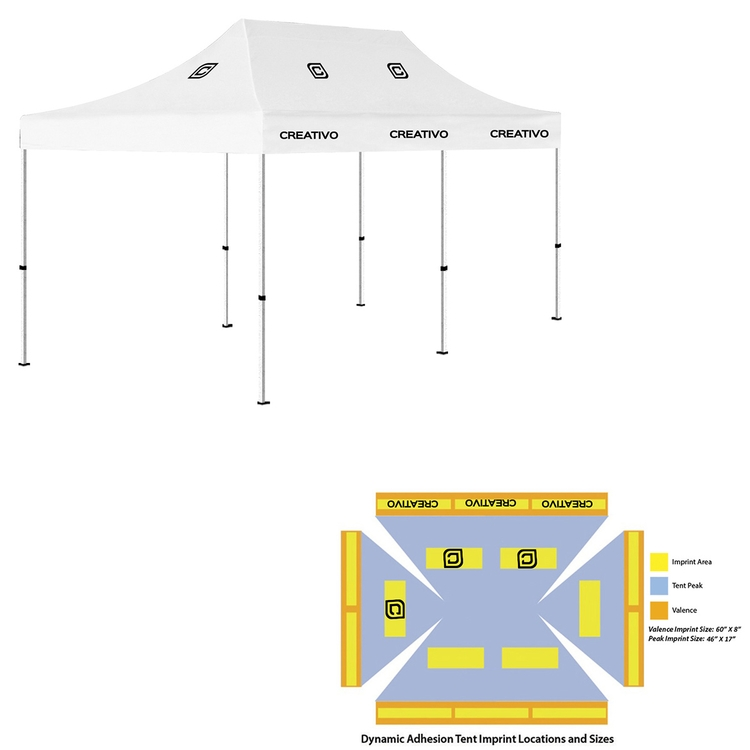 10u0027 x 20u0027 Pop Up Tent (Full-Color Dynamic Adhesion 6 Locations Event Tent)  sc 1 st  Xcel Marketing : event tent sizes - afamca.org