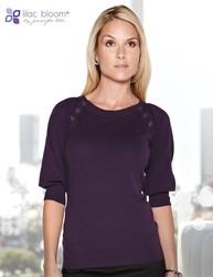 Women's 82% cotton/18% nylon 3/4 sleeve sweater. - EMMA