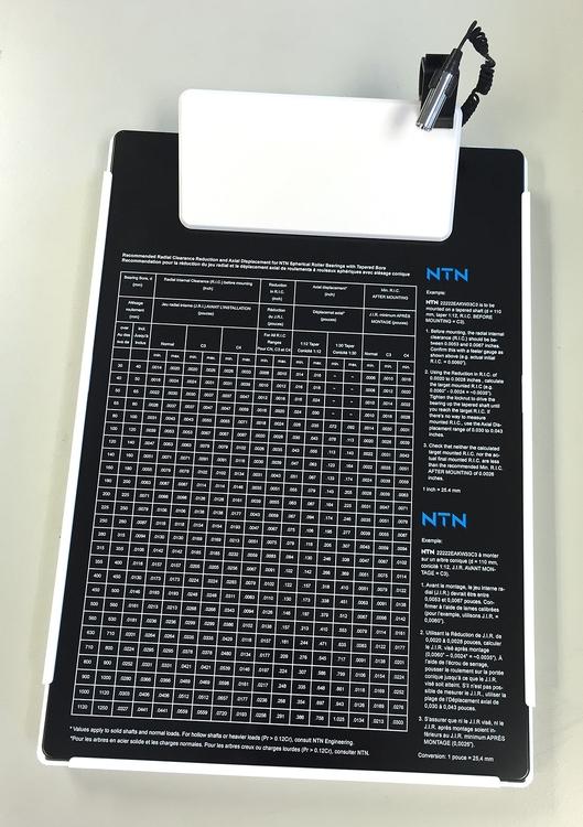 Letter Size Clipboard w/ Storage Box & Light Clip