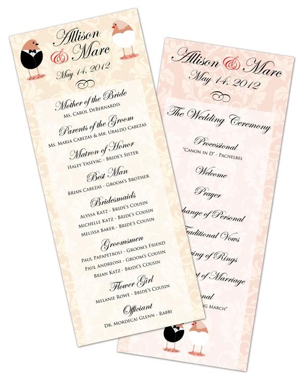 Wedding Program Card Flat 3 5x8 5 5204008