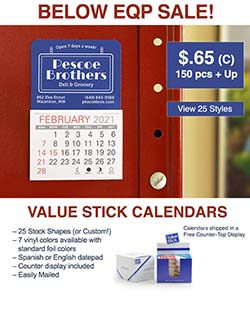 Value Stick Calendars EQP