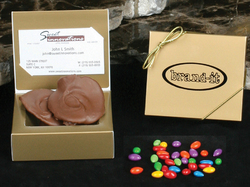 Chocolate Covered Sunflower Seeds - 4 oz. - Business Card Holder