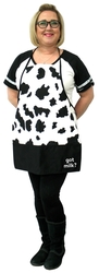Pouch Pocket Cow print Apron - Printed