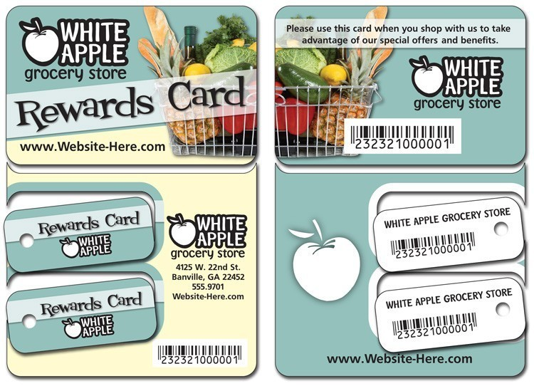 Plastic Laminated (1S) Key Tag/Wallet Card Combo - 3.375x4.875 - 30 pt.