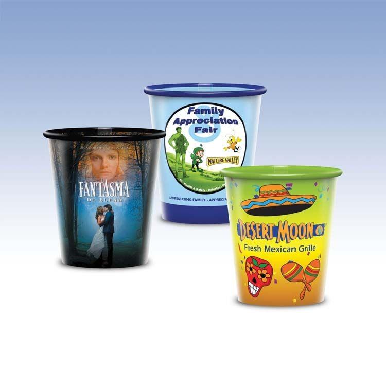 Visstun®-9oz-Reusable Clear Plastic Cup-Hi-Definition Full-Color, Top-Shelf Dishwasher Safe