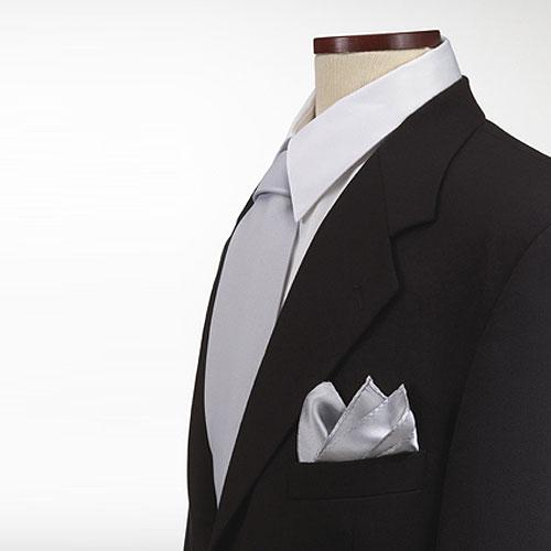 Grey Polyester Pocket Square