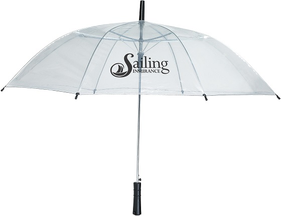 custom umbrellas logo printed clear pvc promotion gift corporate business