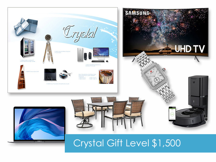 $1,500 Gift of Choice (Crystal Level) Gift Booklet