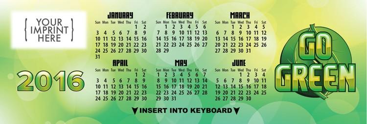 CALENDAR - Go Green Keyboard Calendar