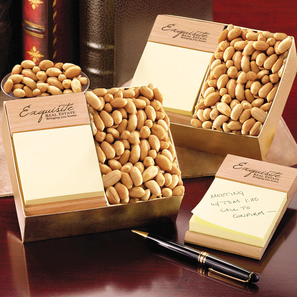 Post-itNote Holder with Choice Virginia Peanuts