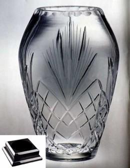 Raleigh Cintura Award Vase on Black Piano Finish Base