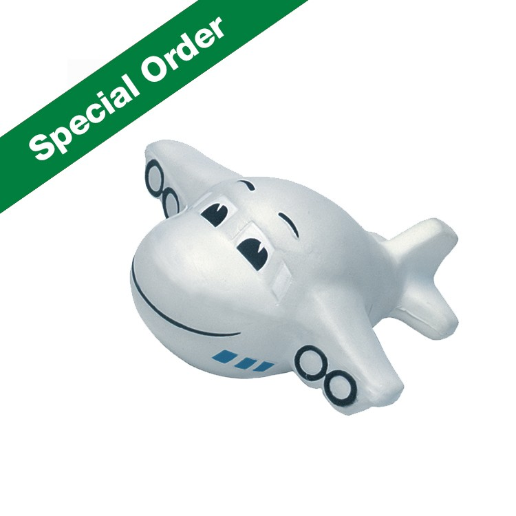 Mini Airplane with Smile and Sound Squeezies Stress Reliever