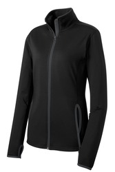 Sport-Tek Ladies Sport-Wick Stretch Contrast Full-Zip Jacket.