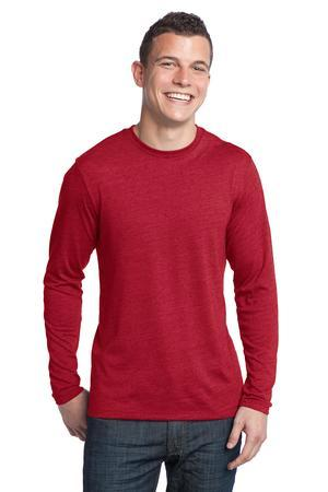 District - Young Mens Textured Long Sleeve Tee.