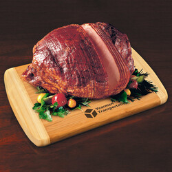 Spiral-Sliced Whole Ham with Bamboo Cutting Board