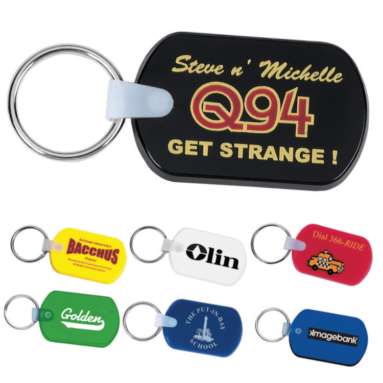 Rectangular Soft Key Tag - Key Tags