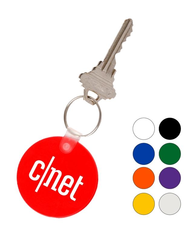 Union Printed, Round soft key tags Keychain
