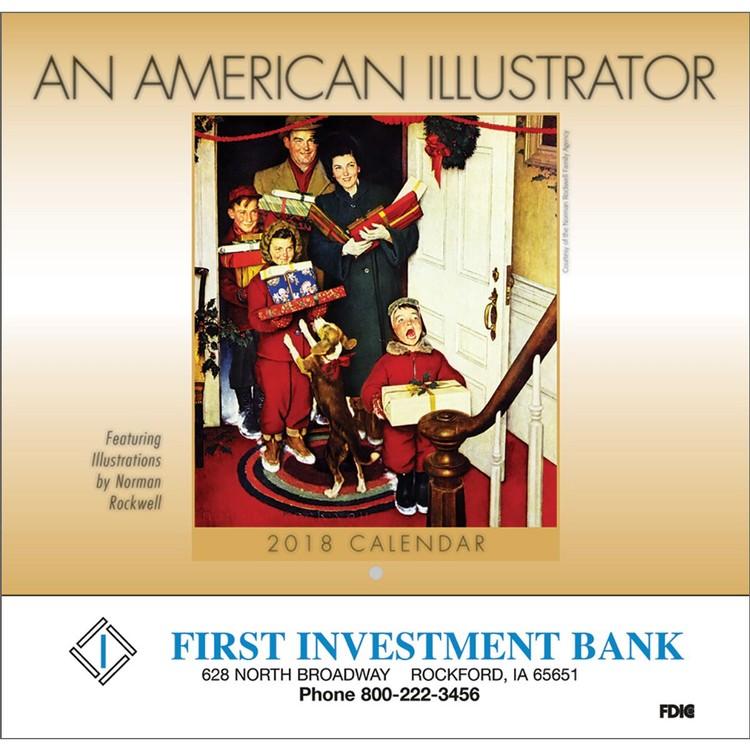 An American Illustrator Wall Calendar - Stapled